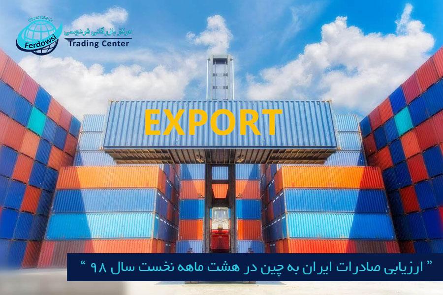مرکز بازرگانی فردوسی-ferdowsi trading center-ارزیابی صادرات ایران به چین در هشت ماهه نخست سال 98