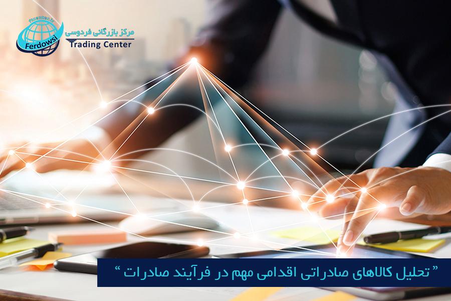 مرکز بازرگانی فردوسی-ferdowsi trading center-تحلیل کالاهای صادراتی