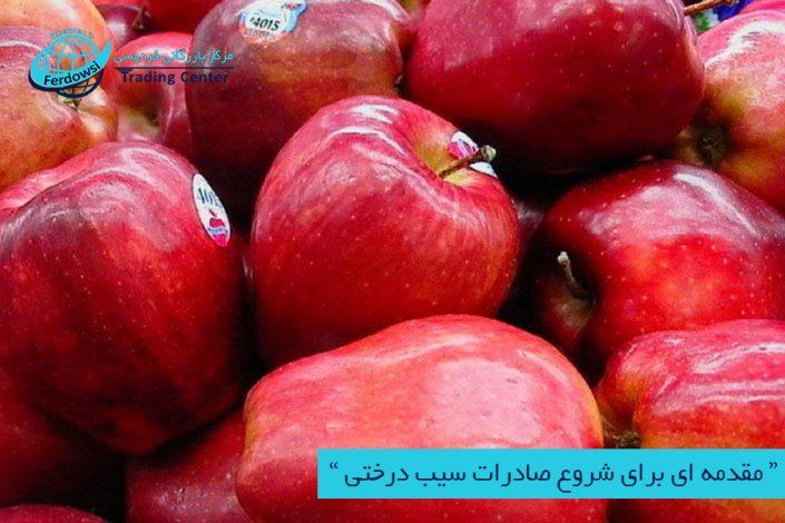 مرکز بازرگانی فردوسی-ferdowsi trading center-صادرات سیب درختی