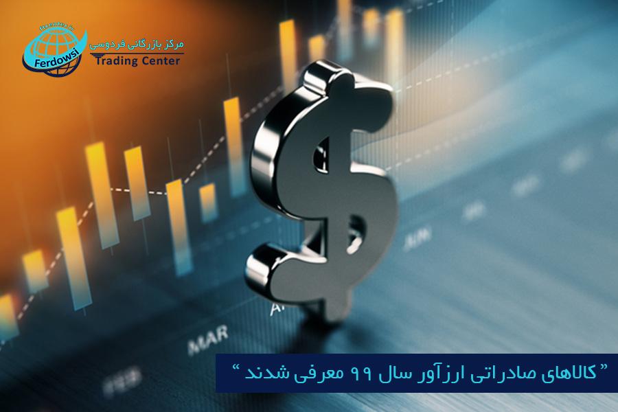 مرکز بازرگانی فردوسی-ferdowsi trading center-کالاهای صادراتی ارزآور سال 99 معرفی شدند