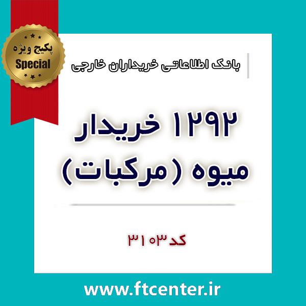 بانک اطلاعاتی ۱۲۹۲ خریدار میوه (مرکبات) در دنیا