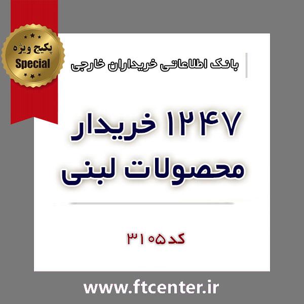 بانک اطلاعاتی ۱۲۴۷ خریدار محصولات لبنی در دنیا