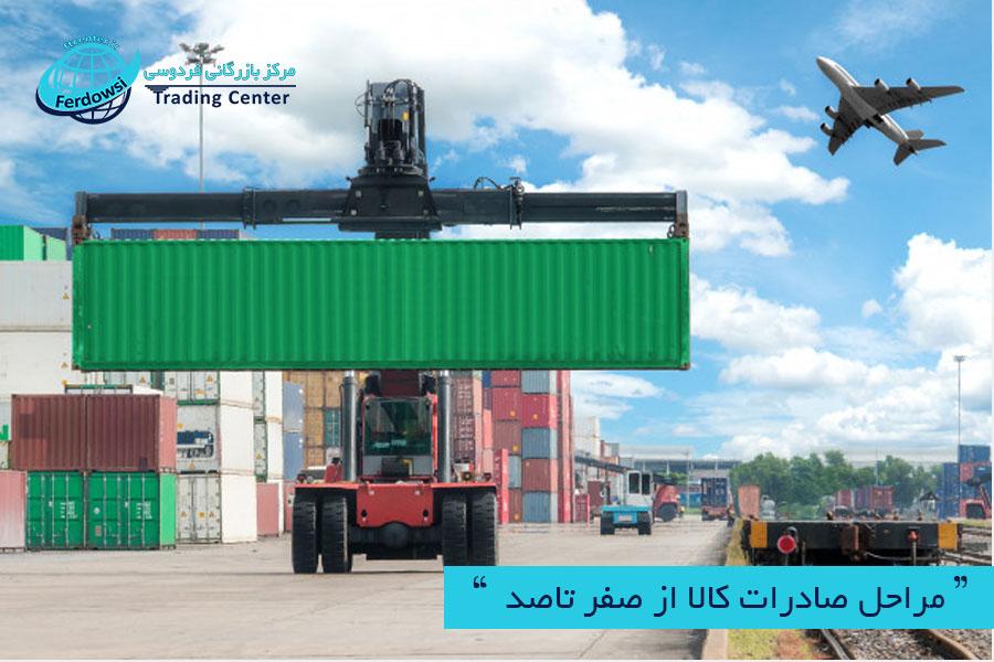 مرکز بازرگانی فردوسی-ferdowsi trading center-مراحل صادرات کالا